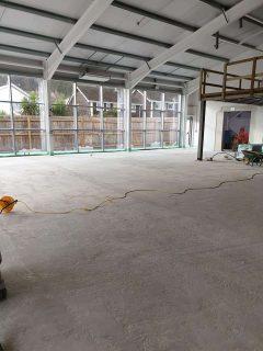 commercial liquid screed warehouse floor Wales